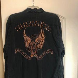 Harley Davidson INK long sleeve button up